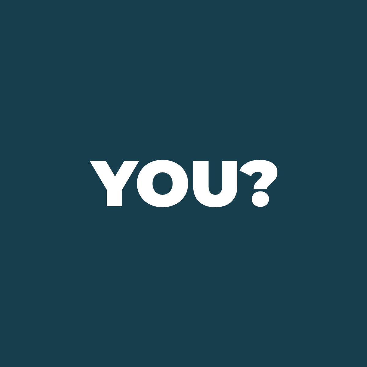 The word 'You' on a dark blue background